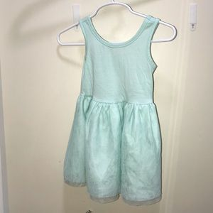 Mint green dress with tulle bottom 18 m